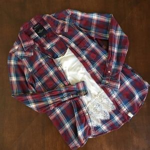 AEO Flannel Button Up